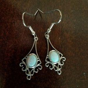 Opal Like Dangle Earrings